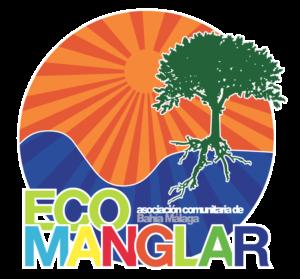 Isologo de Ecomanglar con borde blanco