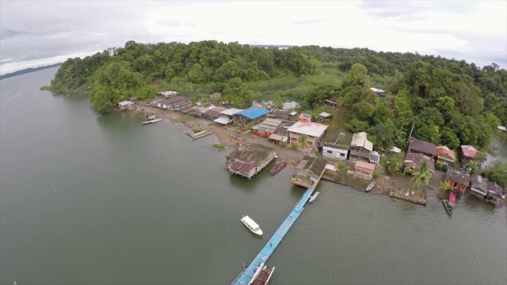 Toma superior con dron de La Plata Bahia Malaga